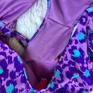 Victoria's Secret Swim - VS purple ruched leopard cheetah print bikini set